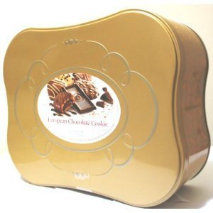 European Chocolate Cookie Tin Assortment of 12 Fine Cookie Varieties with Belgian Chocolate Net Wt 2 Lbs 13.9 OZ OZ (1300 g)