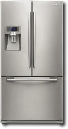 Samsung : RFG237AARS 23 cu. ft. Counter-Depth French Door Refrigerator - Real Stainless
