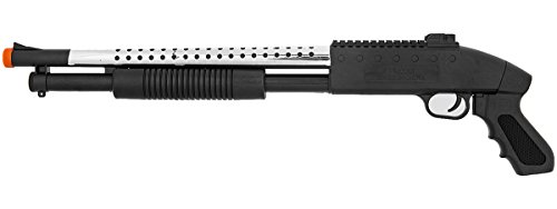 400 FPS Pump Action M590S Spring Powered Airsoft Shotgun BB Gun 1:1 (Airsoft Guns Fps 400 compare prices)