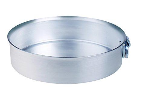Pentole Agnelli ALMA16636 Tortiera Cilindrica Con Anello Spessore 3 Millimetri, Diametro 36 cm