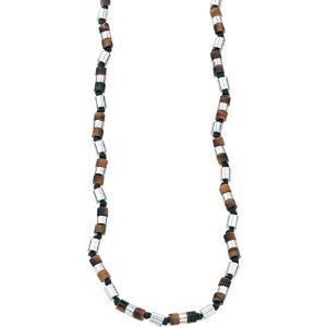Elements Tigers Eye and Bead Necklace, Sterling Silver