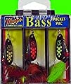 Mepps Black Fury Dressed Bass Fishing Lure Pocket Pack from Mepps