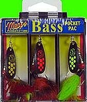 Mepps Black Fury Dressed Bass Fishing Lure Pocket Pack