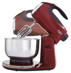 Iconic Stand Mixer Made of Durable Die-cast Metal Construction. This 12 Speed Mixmaster Is What Every Kitchen Needs - Red Maroon