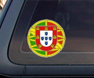 Portuguese Flag Seal Car Decal / Sticker (Portuguese Flag Decal compare prices)