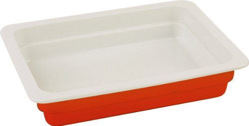 Lava Cookware Signature Enameled Cast Iron Rectangular Baking Dish, 10 By 13 Inch, Orange Spice front-397573