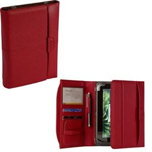 Targus THZ05301CA Zierra Leather Portfolio for Blackberry Playbook (Red)