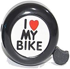 I Love My Bike Bicycle Bell in Black Chrome