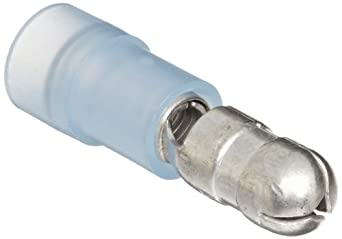 "Morris Products 12056 Bullet Disconnect, Double Crimp, Nylon Insulated, Blue, 16-14 Wire Size 0.197""   (Pack of 100)"