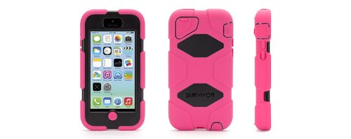 Griffin Pink / Black Heavy Duty Survivor Case for iPhone 5c at Sears.com