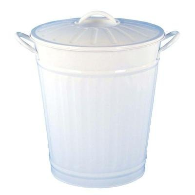 Bel Air Lighting 3.75 gal. White Round Retro Large Trash Can HMD (Trash Can Retro compare prices)
