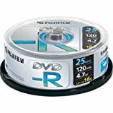 Fujifilm P10DVMGY10A - Fuji 25PK 4.7GB 16X DVD-R Spindle