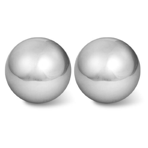 "2 PC Stress Relief Hand Palm Exersice Silber Ton 2 ""Dia Chime Massage Ball"