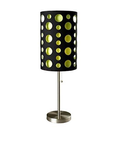 ORE International Modern Retro Table Lamp, Black/Green