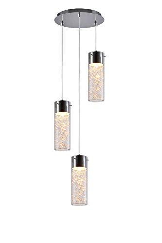 pagani-chrome-3-light-glass-pendant-led-gu10-bulbs-included