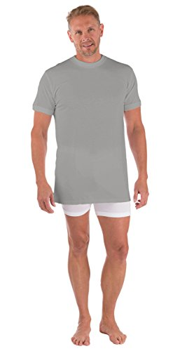 Men'S Crew-Neck T-Shirt - (Light Gray, Large) Great Gift For Him By Victrix Not Too Tight Won'T Lose Its Shape Perfect For Under Dress Shirt Work Clothes Sweat Stain Resistant Mb6001-Lgr-L
