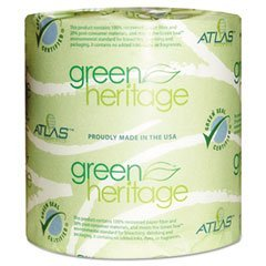 """Green Heritage 125 4.5"""" Length X 3.8"""" Width, 1-Ply Bathroom Tissue (Case Of 96 Rolls, 1000 Per Roll) front-1011769"""