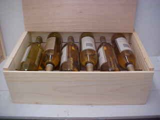 Twelve Bottle Wine Box with Slide Top