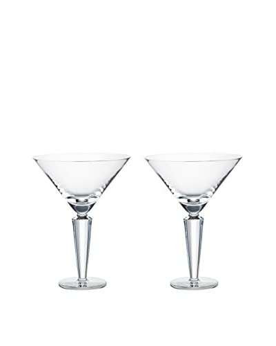 Rogaška Set of 2 Romeo 10-Oz. Martini Glasses, Clear