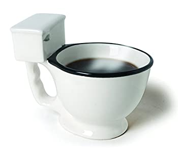Toilet Bowl Mug For Coffee, Tea, Beverages And More - 14-Ounce Unique Novelty Ceramic Mug by Ideas In Life from Ideas In Life