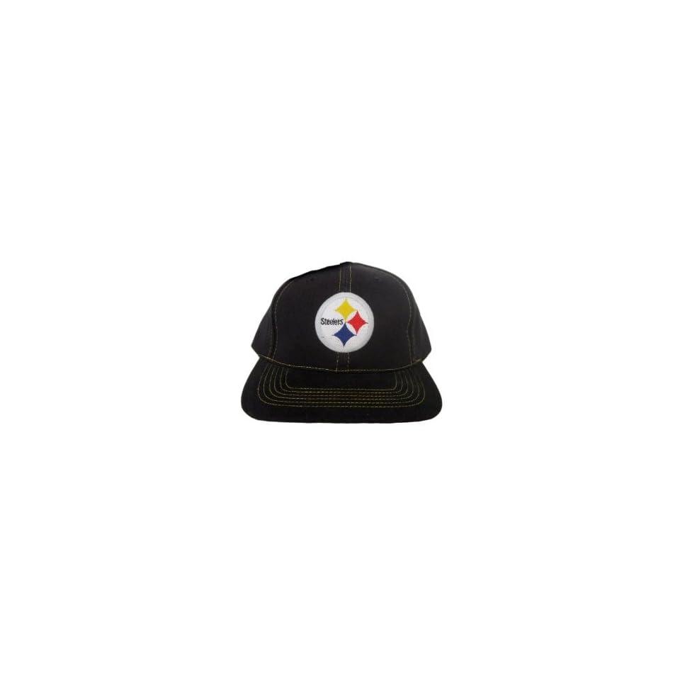 Pittsburgh Steelers Vintage Classic NFL Snapback Hat Cap   Black