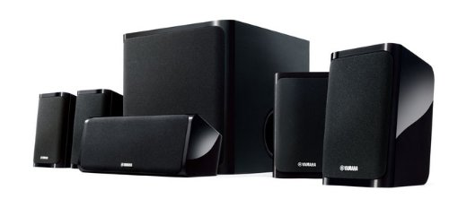 yamaha ns p40 set diffusori a 5 1 canali colore black altoparlanti. Black Bedroom Furniture Sets. Home Design Ideas
