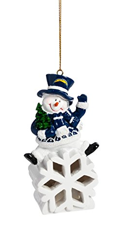 NFL San Diego Chargers LED Snowman Ornament