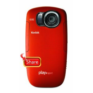 Kodak PlaySport REFURBISHED ZX5 HD Waterproof Pocket Video Camera - Red (2nd Generation)