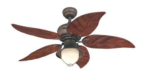Westinghouse 7861920 Oasis Single-Light 48-Inch Five-Blade Indoor/Outdoor Ceiling Fan, Oil Rubbed Bronze with Yellow Alabaster Glass (Small Rustic Ceiling Fan compare prices)