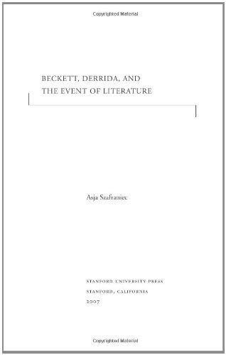 Beckett, Derrida, and the Event of Literature (Cultural Memory in the Present)