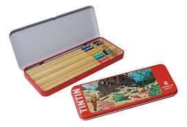 Moulinsart Tintin Red Rackhams Treasure Pencil Set