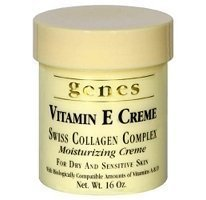 Genes Vitamin E Swiss Collagen Creme - 16 Oz (2 Pack - Total 32 Oz) Body Care / Beauty Care / Bodycare / Beautycare