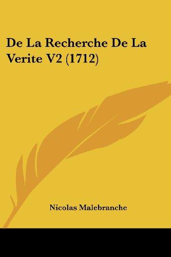De La Recherche De La Verite V2 (1712)