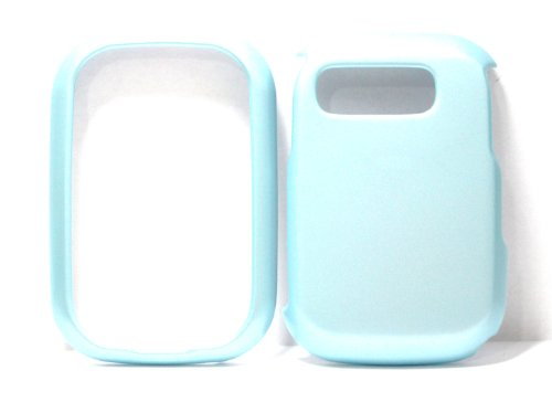 Baby Blue Solid Color Pantech P9020 / 9020 Pursuit Snap on Cell Phone Case + Microfiber Bag