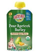 Earth Best Fruit & Grain Pear Apricot Barley Pouch