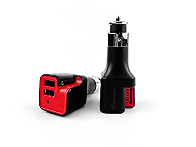 Nucharger CP02 2-in-1 Car Charger with Negative Ion Air 20w 2-port USB Car Charger 2x2A Fast Charging for Iphone, Ipad Air 2, Samsung Galaxy Note, Tablet, More, Risk-Free Retail Package
