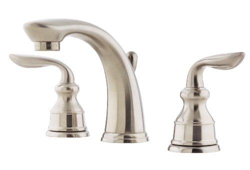 Pfister f049cb0k avalon 8 inch widespread lavatory faucet for 8 bathroom faucet in brushed nickel