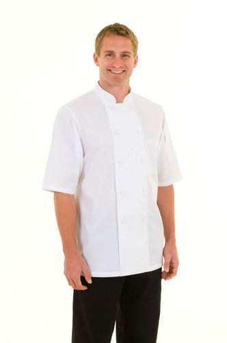 Chef Works JLCV-WHT Montreal Cool Vent Basic Chef Coat, White, Small