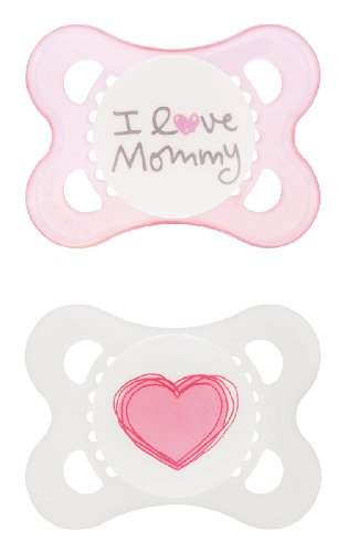 MAM Love and Affection I Love Mommy Silicone Pacifier 2 Count