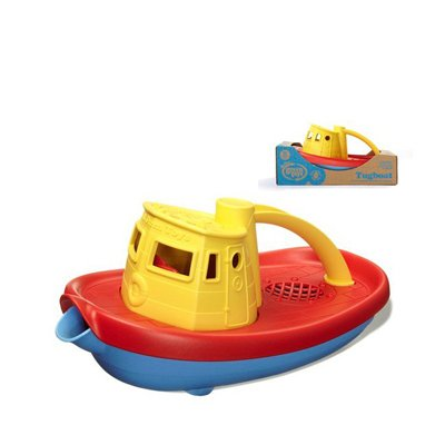Green Toys Original Yellow Tug Boat Vehicle