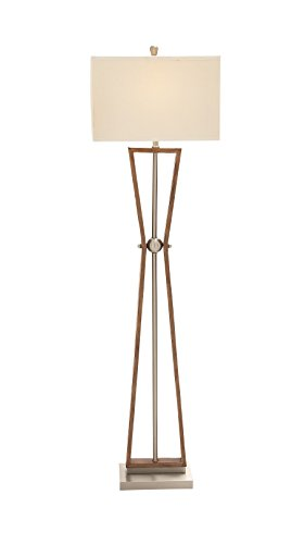 Classy Styled Wood Stainless Steel Floor Lamp