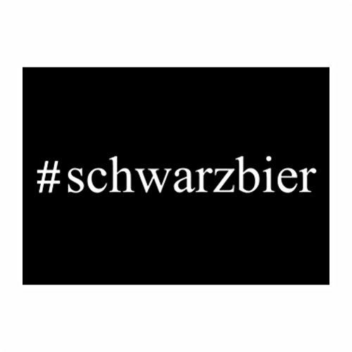 Teeburon #Schwarzbier Hashtag Sticker Pacchetto di 4