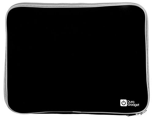 DURAGADGET Black Water & Shock Resistant Soft Case With Dual Zips For Toshiba Satellite U945-S4390, Satellite U845-S406 Touch, Tecra M11 , Tecra R840 & U840W