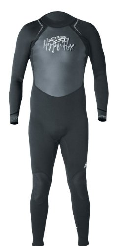 Hyperflex Wetsuits Men's Access 3/2mm Full Suit, Black/Silver, Large - Surfing, Windsurfing & Wakeboarding
