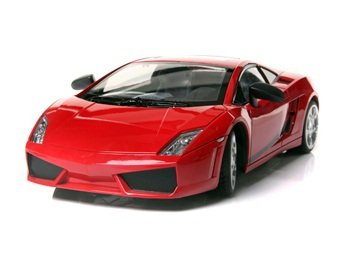 JIN XING Plastic 6 Channels Remote Control Lamborghini Car with EU Plug Charger (Red)
