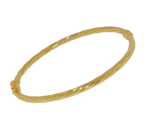 9Ct Yellow Gold Twist Maids Bangle