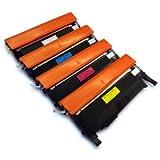 COMBO PACK - Remanufactured CLP360 Laser Toner Cartridges for Samsung Printers CLP-360, CLP-360N, CLP-365, CLP-365W, CLX-3300, CLX-3305, CLX-3305FN, CLX-3305N, CLX-3305W, CLX-3305FN, CLX-3305FW - ONE SET