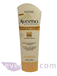 Aveeno Continuous Protection Sunblock Lotion SPF55 3.0oz/84g