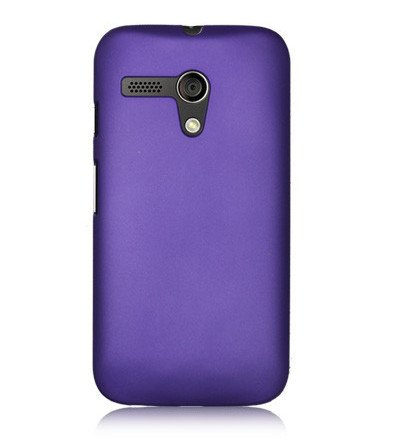 ImagineDesign Rubberised Hard Case For Motorola Moto G (Purple)