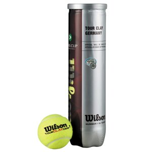Wilson Tour Clay Germany 4er Dose